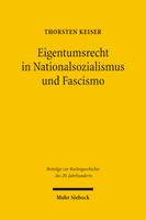 Eigentumsrecht in Nationalsozialismus und Fascismo