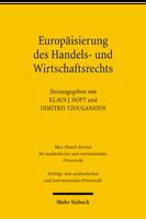 Europäisierung des Handels- und Wirtschaftsrechts