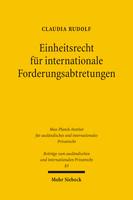 Einheitsrecht für internationale Forderungsabtretungen