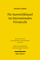 Die Ausweichklausel im Internationalen Privatrecht