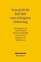 Festschrift für Rolf Birk zum siebzigsten Geburtstag