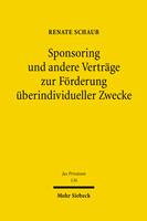 Sponsoring und andere Verträge zur Förderung überindividueller Zwecke