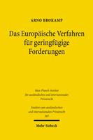 Das Europäische Verfahren für geringfügige Forderungen