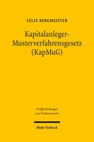 Kapitalanleger – Musterverfahrensgesetz (KapMuG)