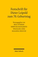 Festschrift für Dieter Leipold zum 70. Geburtstag