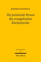 Die juristische Person des evangelischen Kirchenrechts