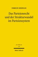 Das Parteienrecht und der Strukturwandel im Parteiensystem