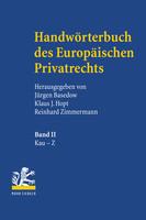 Handwörterbuch des Europäischen Privatrechts