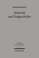 Textkritik und Textgeschichte