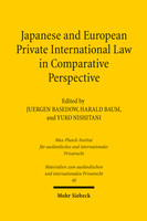 Japanese and European Private International Law in Comparative Perspective