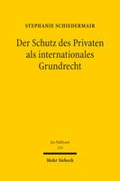 Der Schutz des Privaten als internationales Grundrecht
