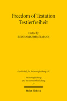 Freedom of Testation / Testierfreiheit