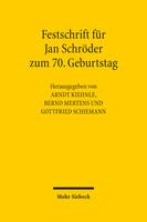 Festschrift für Jan Schröder zum 70. Geburtstag
