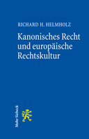 Kanonisches Recht und europäische Rechtskultur
