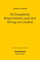 Die Europäische Bürgerinitiative nach dem Vertrag von Lissabon