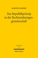 Das Republikprinzip in der Rechtsordnungengemeinschaft