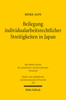 Beilegung individualarbeitsrechtlicher Streitigkeiten in Japan