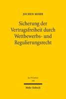 Sicherung der Vertragsfreiheit durch Wettbewerbs- und Regulierungsrecht
