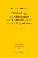 Die Widerklage im Zivilprozessrecht der Europäischen Union und ihrer Mitgliedstaaten