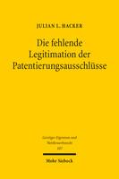Die fehlende Legitimation der Patentierungsausschlüsse