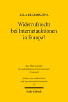 Widerrufsrecht bei Internetauktionen in Europa?