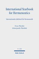 International Yearbook for Hermeneutics/Internationales Jahrbuch für Hermeneutik