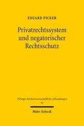 Privatrechtssystem und negatorischer Rechtsschutz